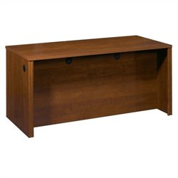 Bestar Embassy Wood Computer Desk Credenza in Tuscany Brown