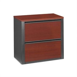 Bestar Prestige 2 Drawer Lateral Wood File Cabinet In Bordeaux