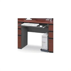 Bestar Prestige + Keyboard Shelf and CPU Platform in Bordeaux