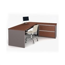 Bestar Connexion L-Shaped Desk with 1 Oversized Pedestal