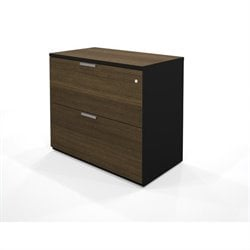 Bestar Pro-Concept Assembled Lateral File in in Black & Milk Chocolate