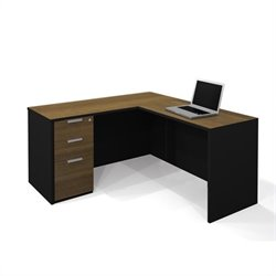 Bestar Pro-Concept L-Shaped Workstation with Assembled Pedestal