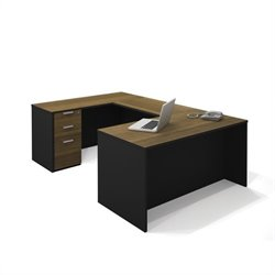 Bestar Pro-Concept U-Shaped Workstation with 1 Assembled Pedestal