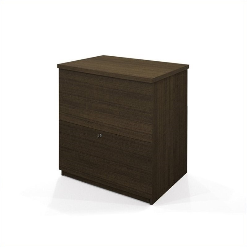 Bestar 2 Drawer Lateral Wood File Storage Cabinet in Tuxedo
