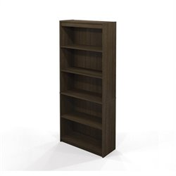Bestar 5 Shelf Bookcase in Tuxedo