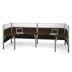 Bestar Pro-Biz Double Back to Back L-Desk in Chocolate