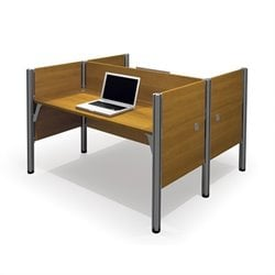 Bestar Pro-Biz Double Face to Face Desk with Privacy