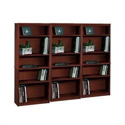 Bestar 5 Wall Bookcase in Tuscany Brown