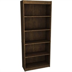 Bestar 5-Shelf Bookcase in Chocolate