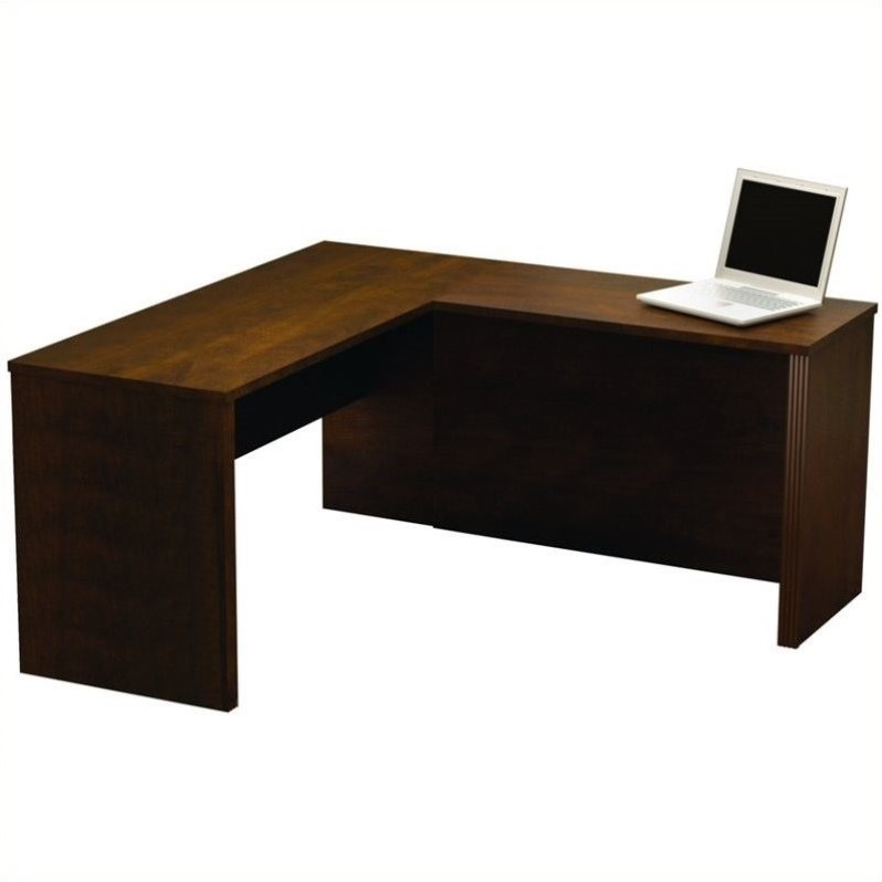 Bestar Prestige + L-Shape Computer Desk in Chocolate