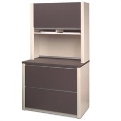 Bestar Connexion Lateral File and Hutch Set