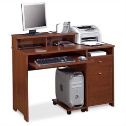 Bestar Legend Computer Work Station in Tuscany Brown