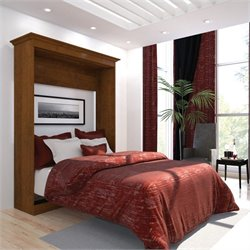 Bestar Versatile 64'' Full Wall Bed in Tuscany Brown