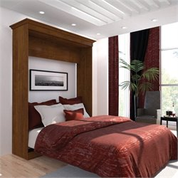 Bestar Versatile 70'' Queen Wall Bed in Tuscany Brown
