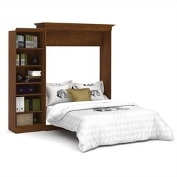 Bestar Versatile 92'' Queen Wall Bed with Storage Unit in Tuscany Brown