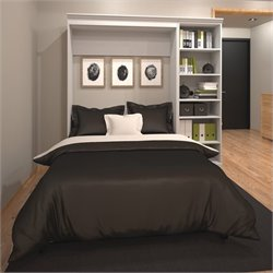 Bestar Versatile 84'' Full Wall Bed with Storage Unit White