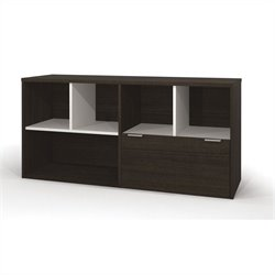 Bestar Contempo Credenza with One drawer in Tuxedo