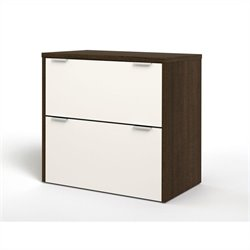 Bestar Contempo Lateral File in Tuxedo and Sandstone