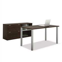 Bestar Contempo Executive Desk Set in Tuxedo