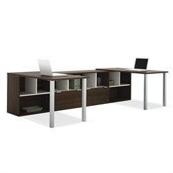Bestar Contempo Two L-Shaped Desks Set in Tuxedo