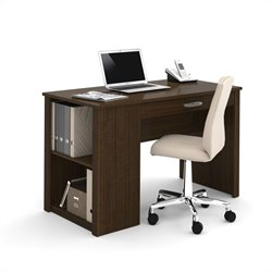 Bestar Acton Workstation with Storage in Tuxedo