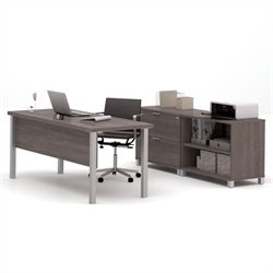 Bestar Pro-Linea Executive Set in Bark Grey