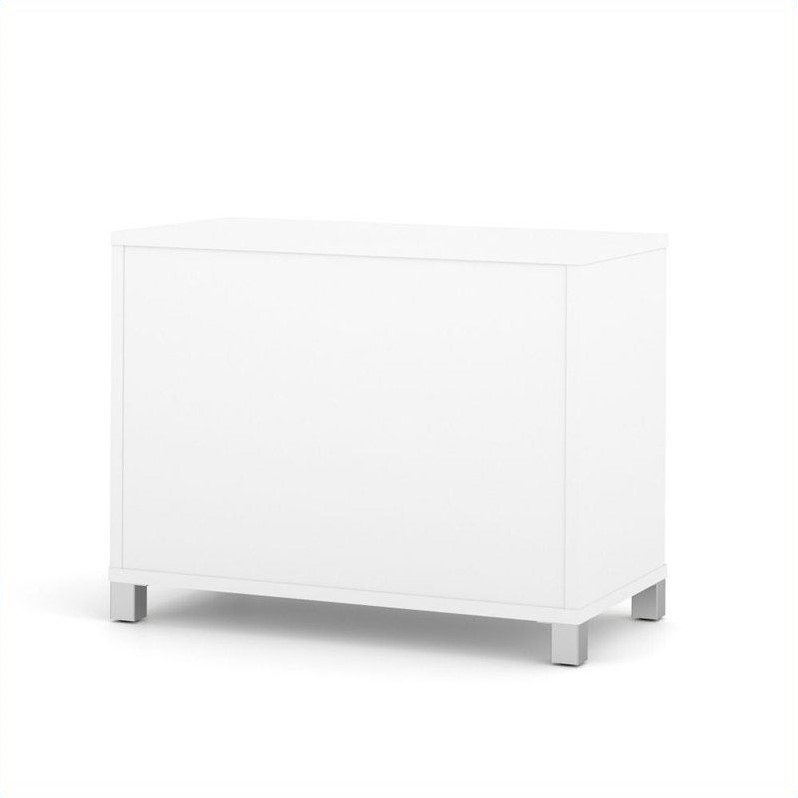Bestar Pro-Linea 2-Door Storage Unit in White