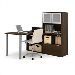 Bestar i3 L-Shaped Desk in Tuxedo