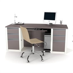 Bestar Connexion Home Office Set with 2 Pedestals