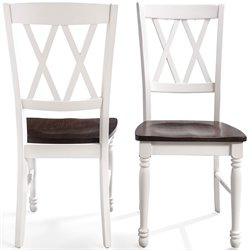 Crosley Shelby Dining Chair in White (Set of 2)