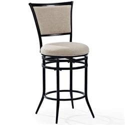 Crosley Rachel Swivel Bar Stool in Black-SH3