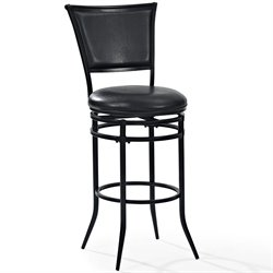 Crosley Rachel Swivel Bar Stool in Black-SH2