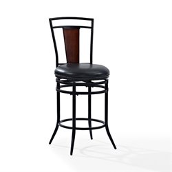 Crosley Soho Swivel Stool in Black-SH3