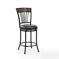 Crosley Templeton Swivel Bar Stool in Black Gold-SH1