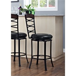Crosley Highland Swivel Bar Stool in Black Gold-SH3