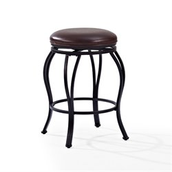 Crosley Kemper Swivel Counter Stool in Black