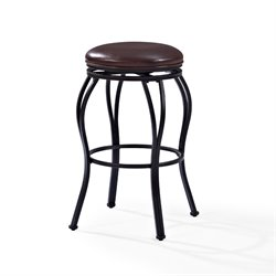 Crosley Kemper Swivel Bar Stool in Black