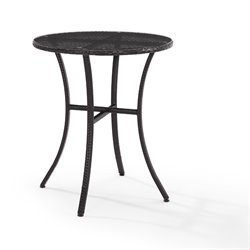 Crosley Palm Harbor Wicker Patio Bistro Table