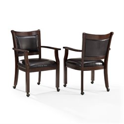 Crosley Reynolds Game Chair In Rustic Mahogany (Set of 2)