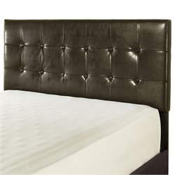 Crosley Andover Faux Leather Tufted Headboard in Brown