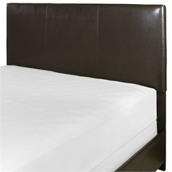 Crosley Drake Faux Leather Panel Headboard in Brown