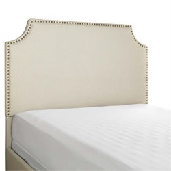 Crosley Brooks Linen Upholstered Panel Headboard in Cr?me