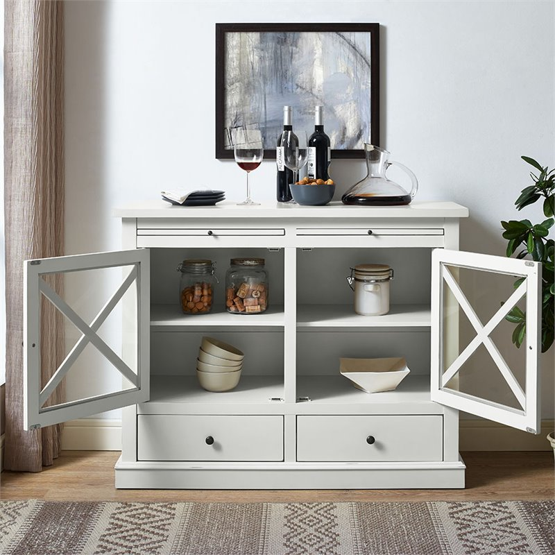 Crosley Furniture Jackson Traditional Sideboard in White