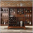 Newport Expandable Home Bar Cabinet in Classic Cherry Finish