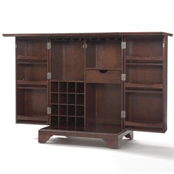 Crosley Furniture LaFayette Expandable Home Bar Cabinet in Vintage Mahogany Finish