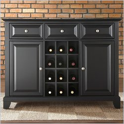 Crosley Furniture Newport Buffet Server / Sideboard Cabinet in Black