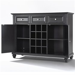 Crosley Furniture Cambridge Buffet Server / Sideboard Cabinet in Black Finish