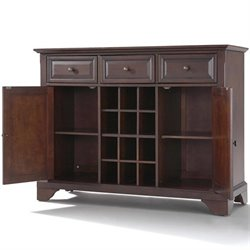 Crosley Furniture LaFayette Buffet Server / Sideboard Cabinet in Vintage Mahogany
