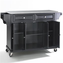 Crosley Furniture Alexandria Kitchen Cart in Black