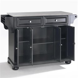 Crosley Furniture Alexandria Kitchen Island in Black